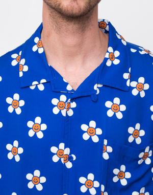 Lazy Oaf - Happy Flower Bowling Shirt