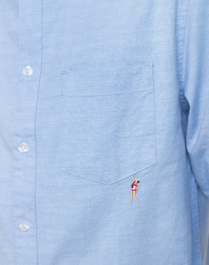 Košile - RVLT - 3708 PIN Shirt with embroidery