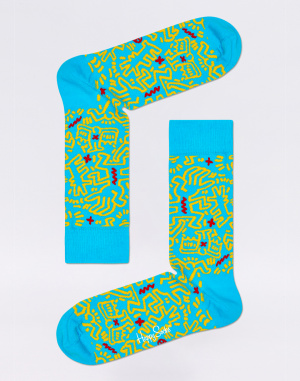Happy Socks - Keith Haring All Over