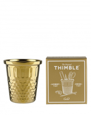 W & W - Gold Giant Thimble Hobby Tidy