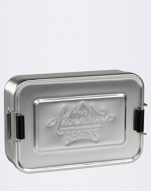 W & W - Large Silver Lunch Tin