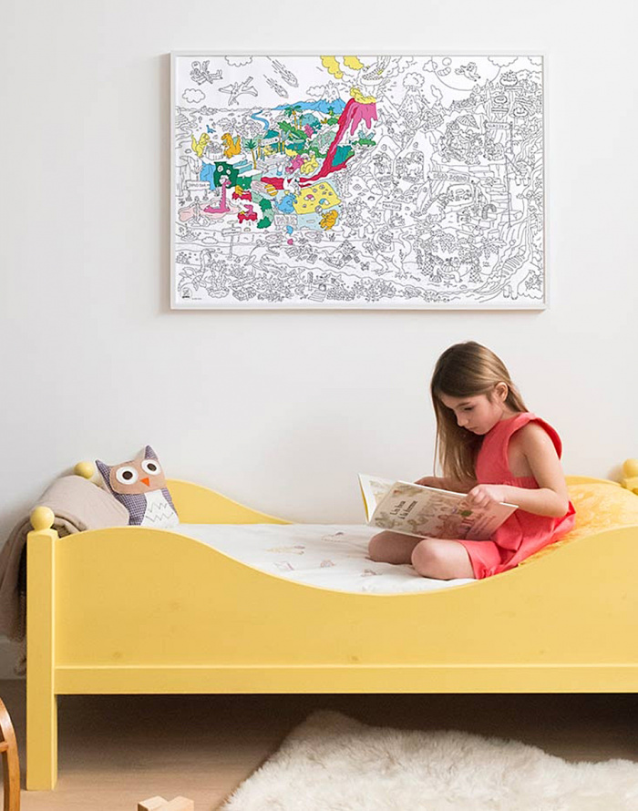 Paper Gift OMY Giant Coloring Poster - Dinos