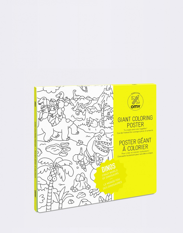 Paper Gift - OMY - Giant Coloring Poster - Dinos