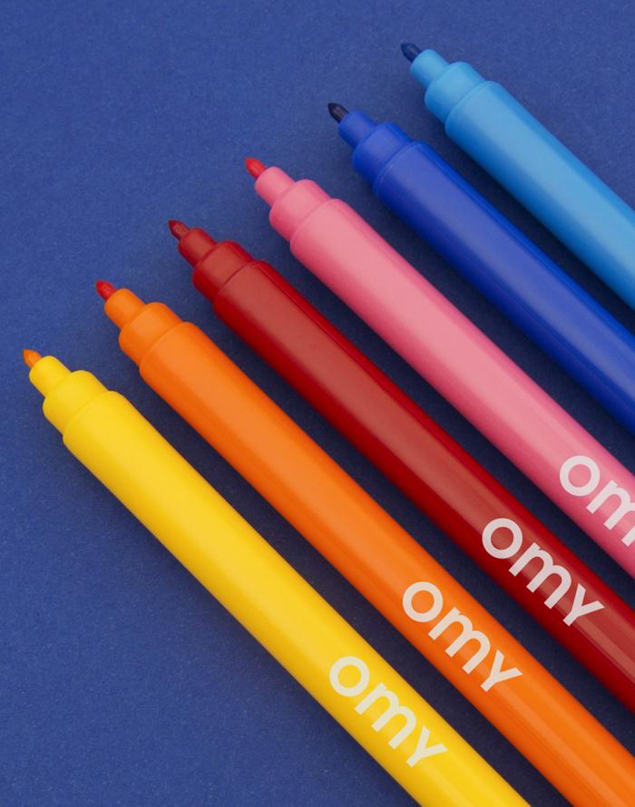 Do kanceláře OMY 16 Ultra Washable Felt Pens
