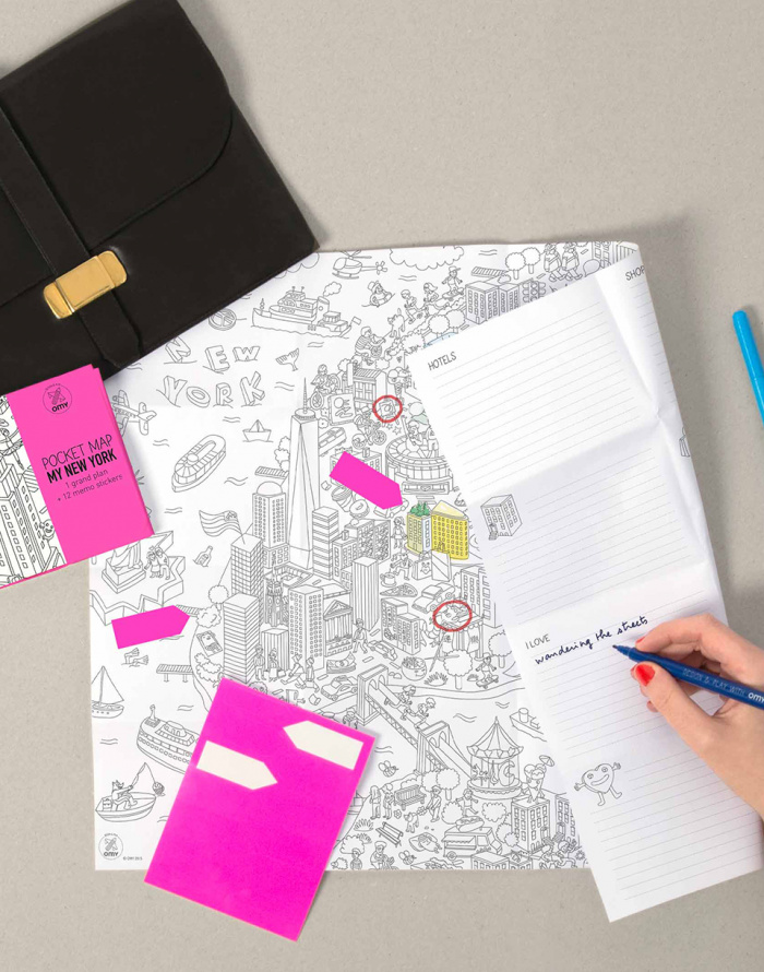Paper Gift OMY Coloring Pocket Map - My New York City