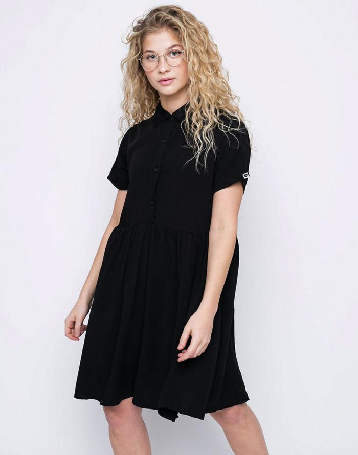 Šaty - Lazy Oaf - Black Shirt Dress