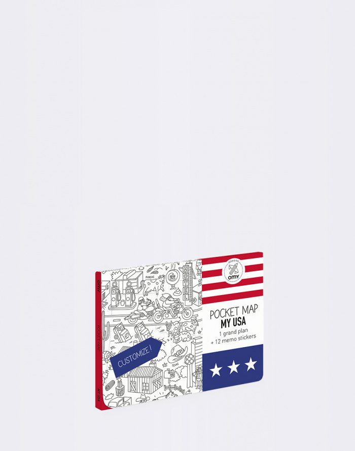 Paper Gift OMY Coloring Pockets Map - USA