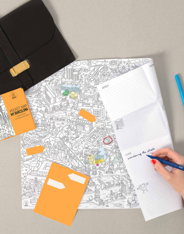 OMY - Coloring Pocket Map - My Barcelona
