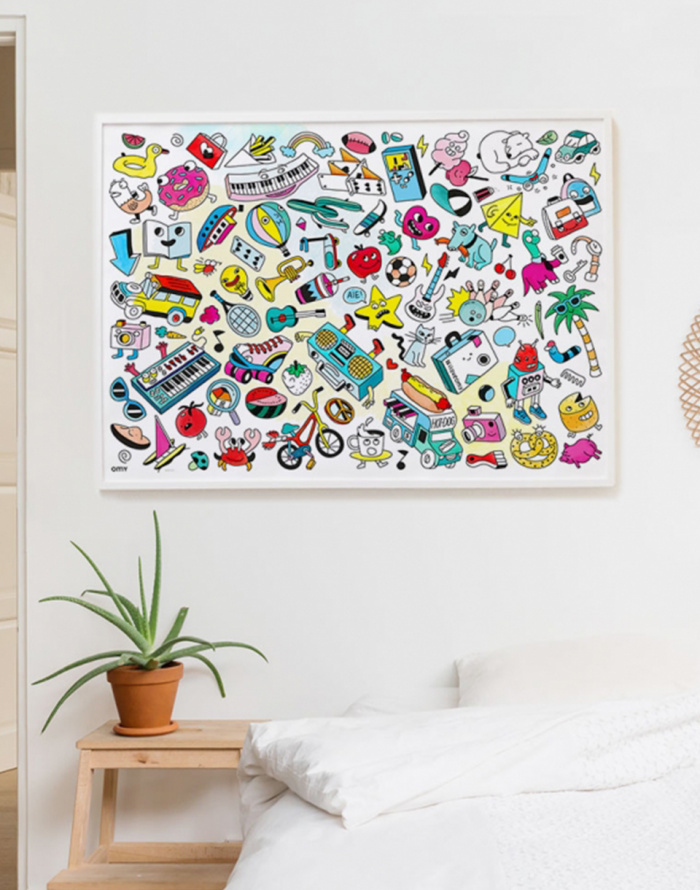 Paper Gift - OMY - Giant Coloring Poster - Pop