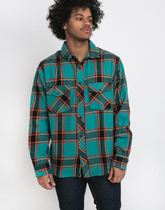 Košile Stüssy Ace Plaid LS Shirt