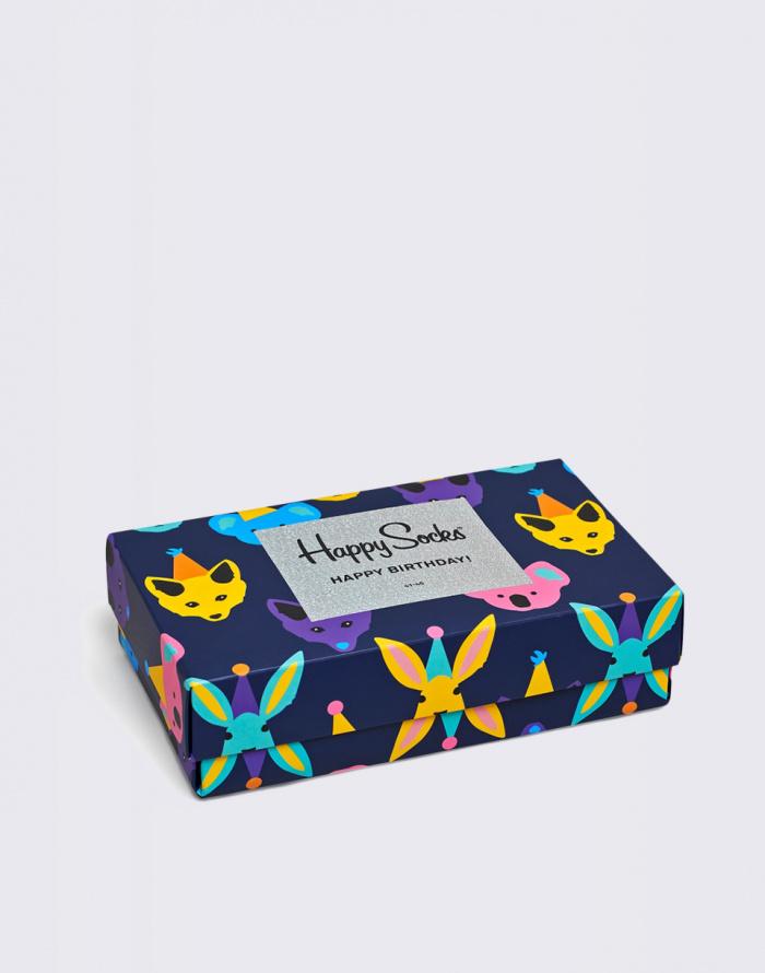 Ponožky - Happy Socks - Party Animal Singing Birthday Gift Box