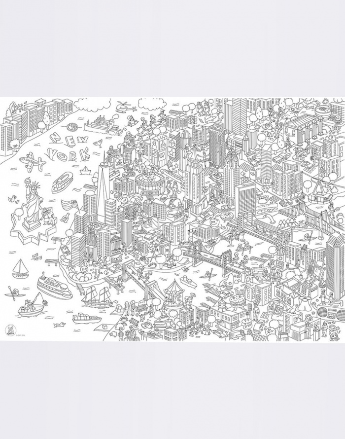 Paper Gift OMY COLORING POSTER - NEW YORK CITY