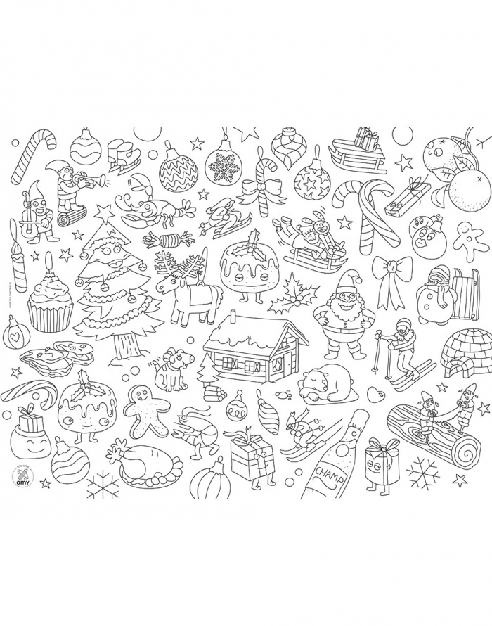 OMY - Coloring Placemats - Christmas