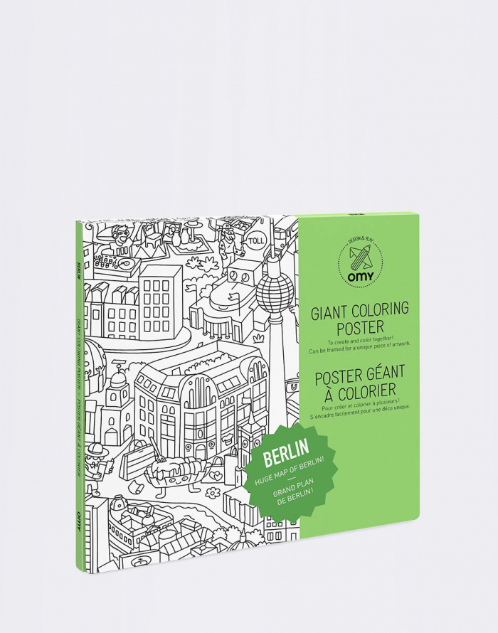 Paper Gift OMY COLORING POSTER - BERLIN