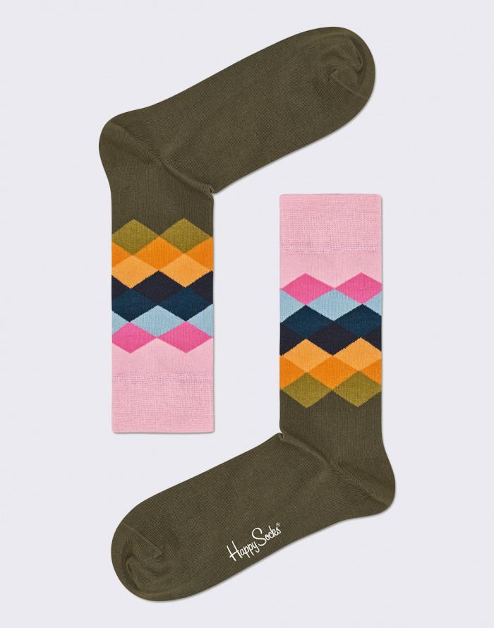 Ponožky - Happy Socks - Faded Diamond