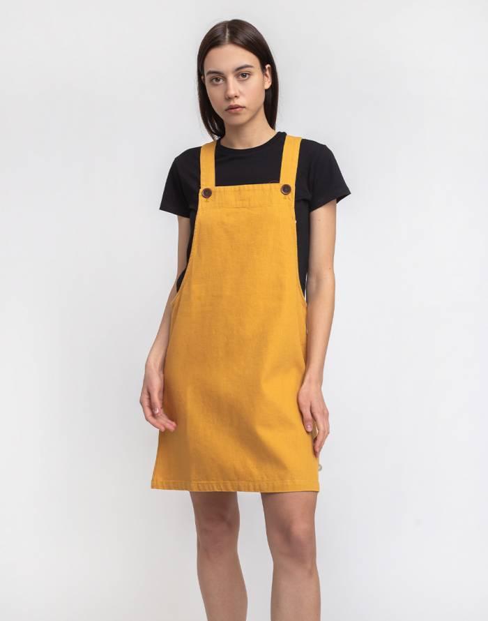 Šaty Thinking MU Mustard Hemp Amelie Dress