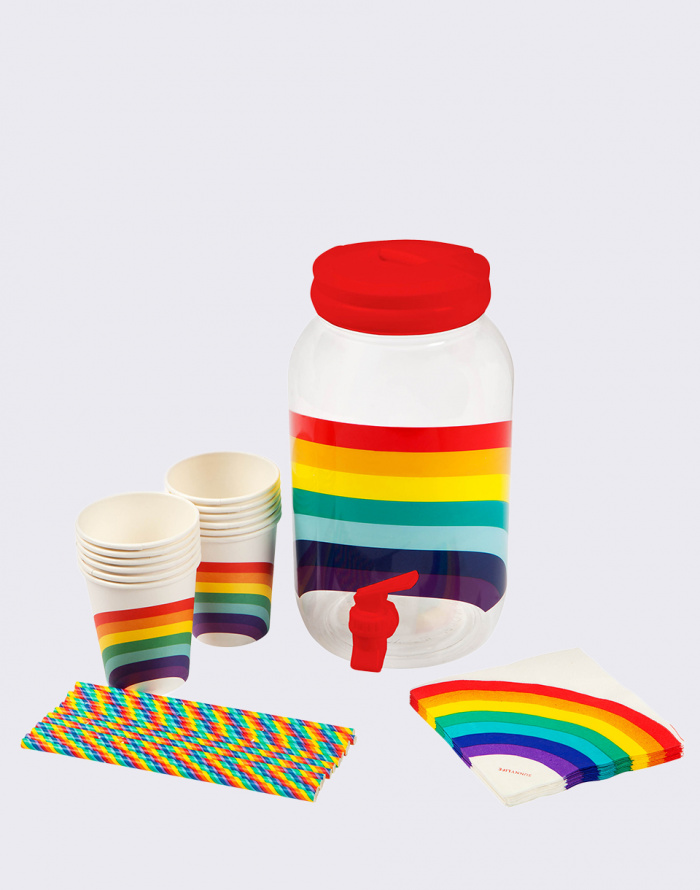 Láhev na pití Sunnylife Drink Dispenser Kit Rainbow