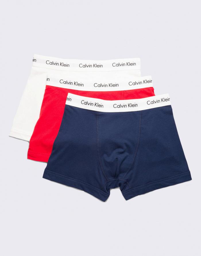 Boxerky - Calvin Klein - 3P Low Rise Trunk