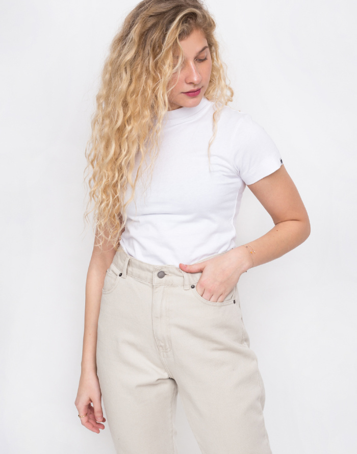 Triko - Lazy Oaf - White Fitted