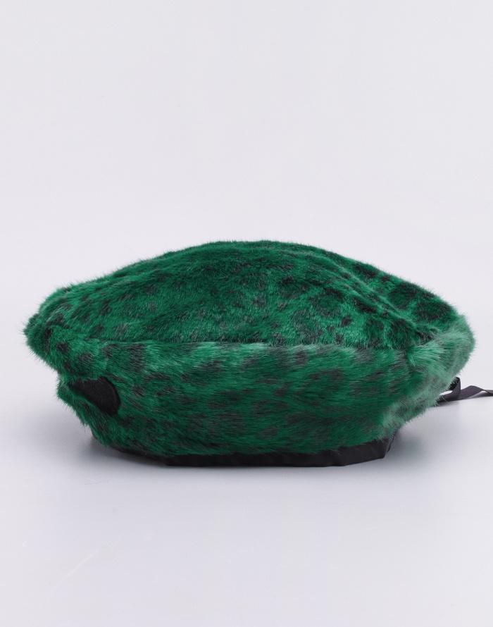 Lazy Oaf - Green Leopard Fur Beret