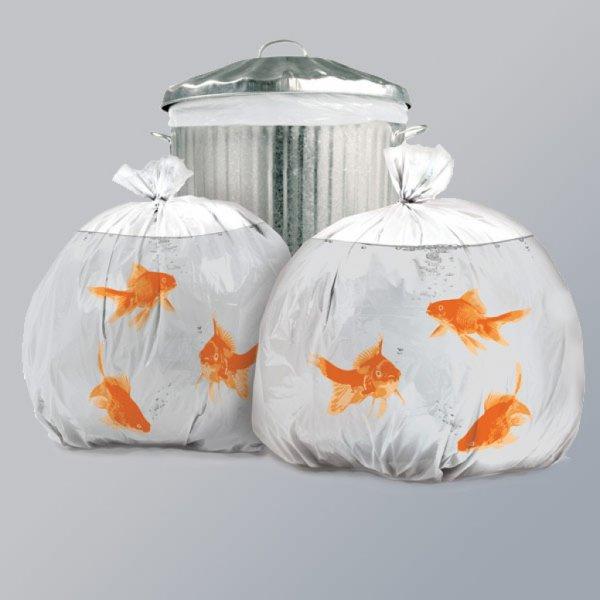 Dárek Suck UK Goldfish Bin Bags
