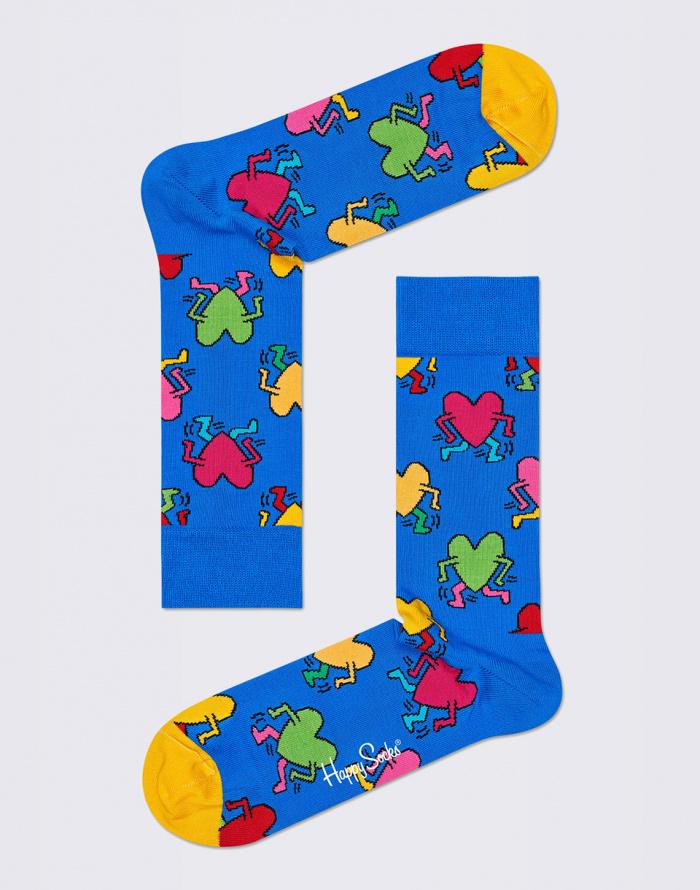 Ponožky - Happy Socks - Keith Haring Running Heart