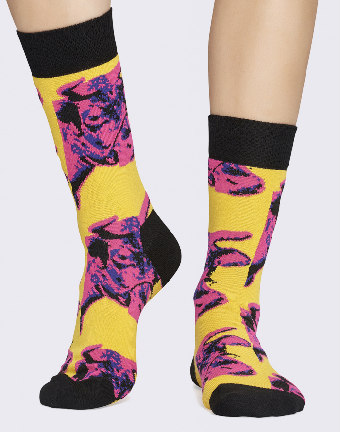 Ponožky - Happy Socks - Andy Warhol Cow