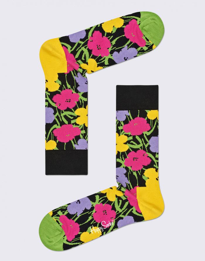 Ponožky - Happy Socks - Andy Warhol Flower