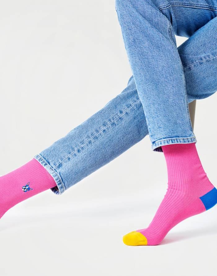 Ponožky Happy Socks Ribb Embroidery Dog