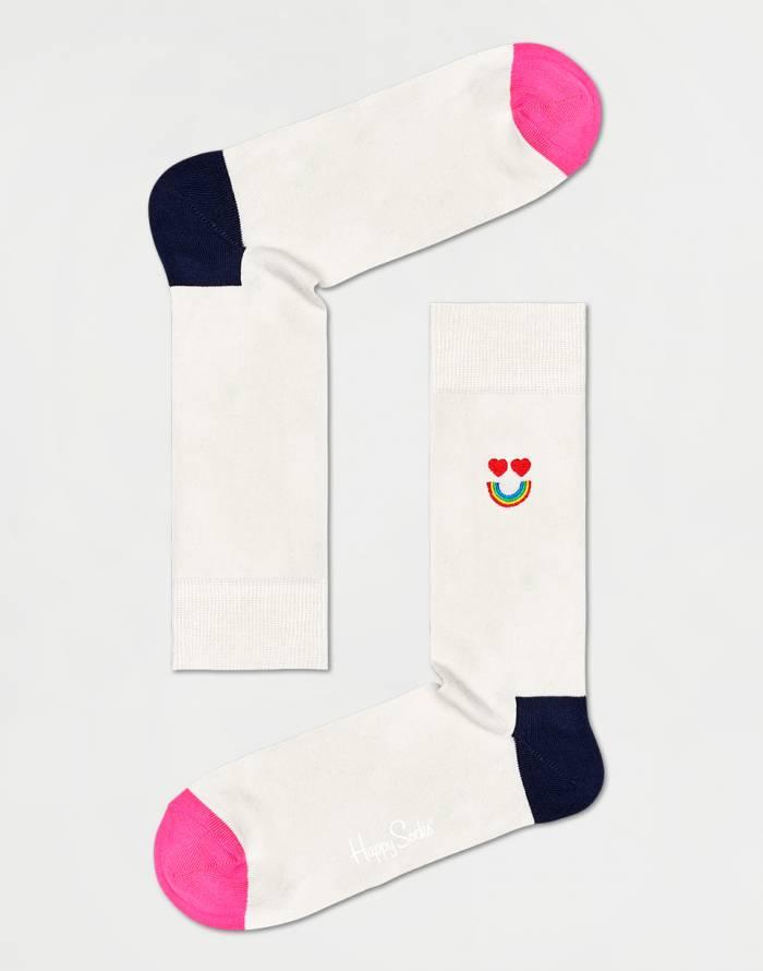 Ponožky Happy Socks Embroidery Happy Rainbow