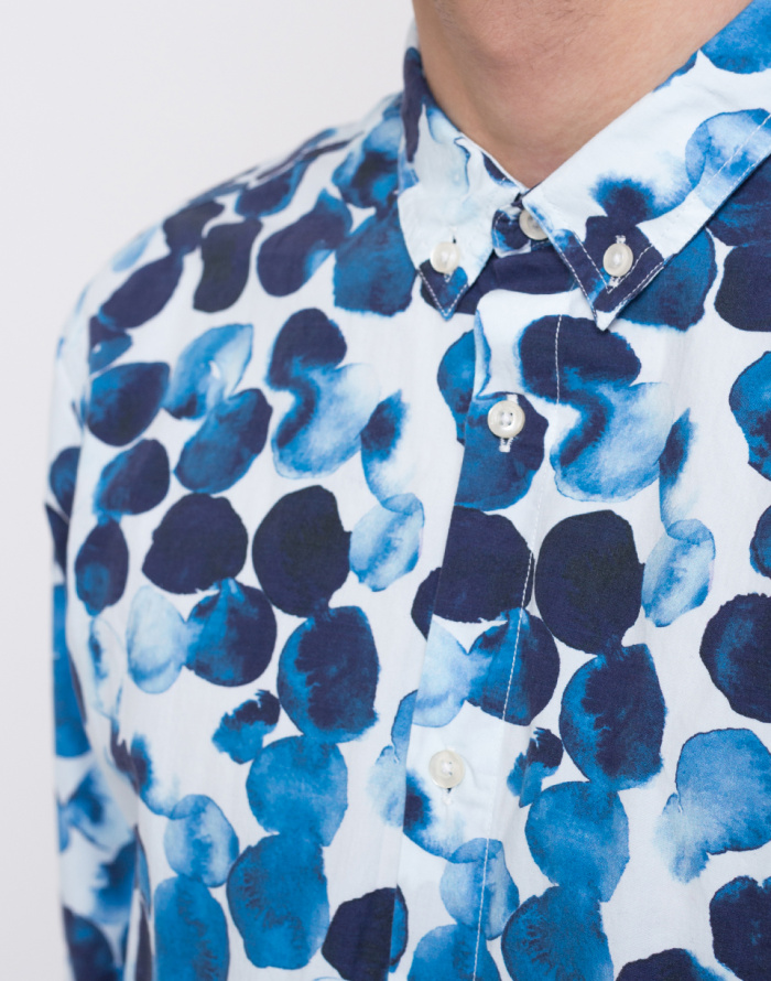 Košile - Knowledge Cotton - Water Based Dot Printed Shirt