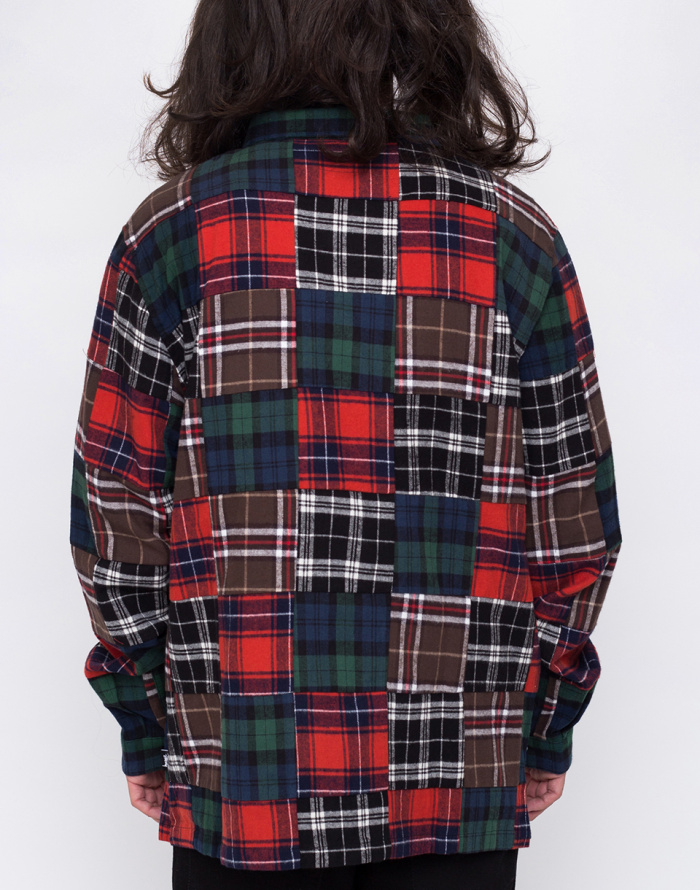 Košile - Stussy - Patchwork Zip Up