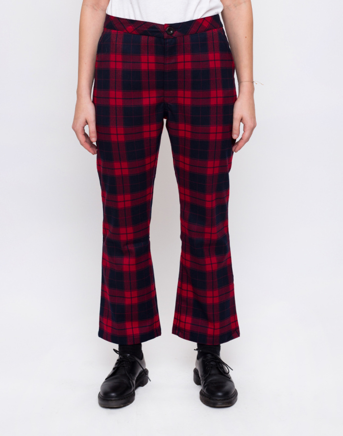 Kalhoty - Lazy Oaf - Tartan Kick Flare
