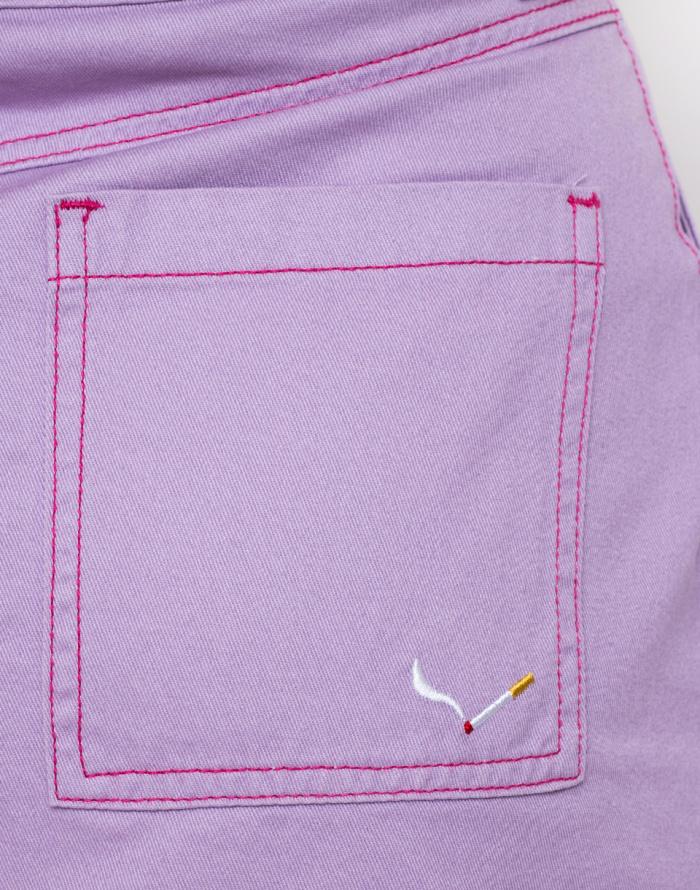 Sukně - Lazy Oaf - Contrast Stitch Cigarette Skirt