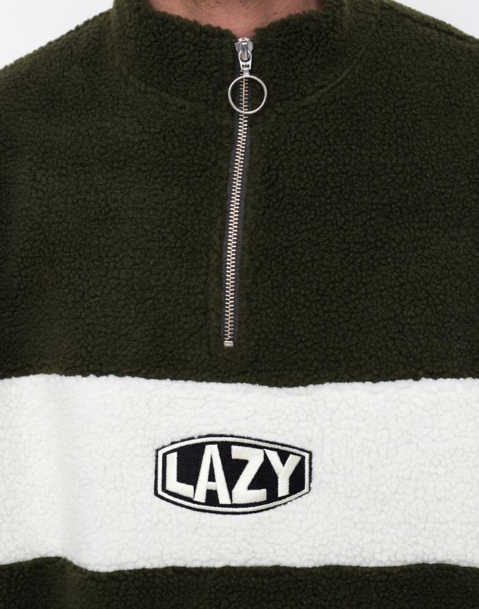 Mikina - Lazy Oaf - Khaki Polar Fleece