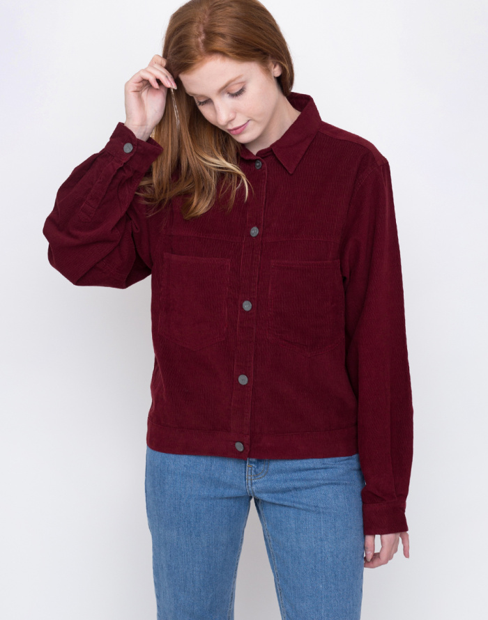 Košile - Thinking MU - WINE CORDUROY