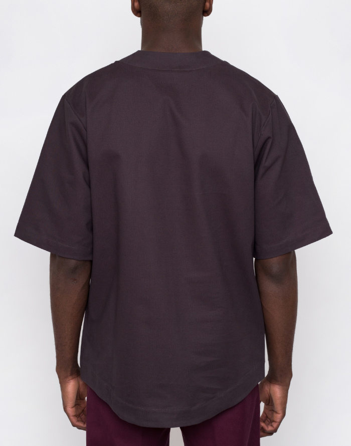 Košile - North Hill - Twill Anthracite Baseball Jersey