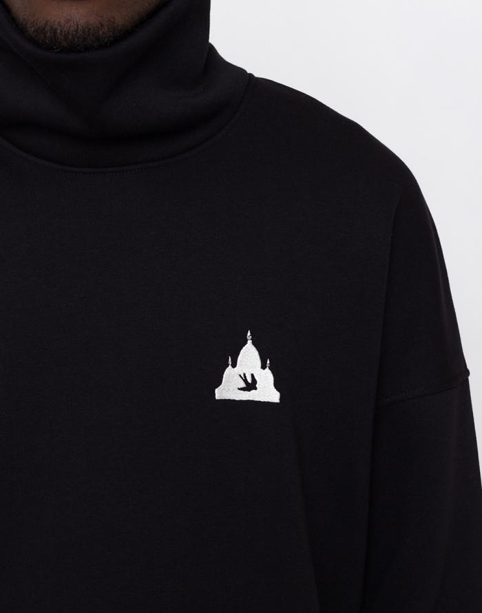 Mikina - North Hill - Black Logo Turtleneck