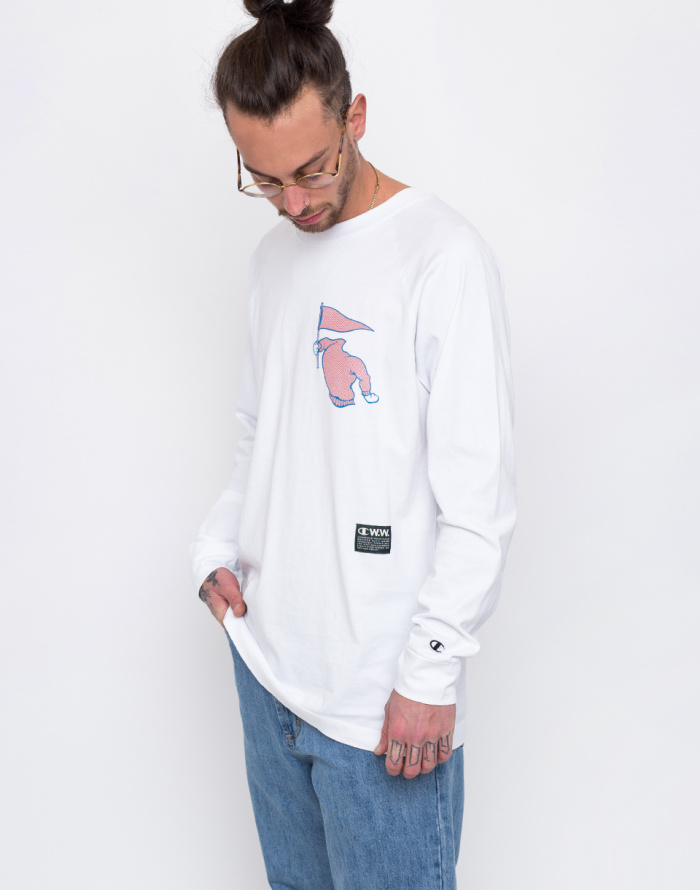 Triko - Champion - Wood Wood Long Sleeve Crewneck T-Shirt