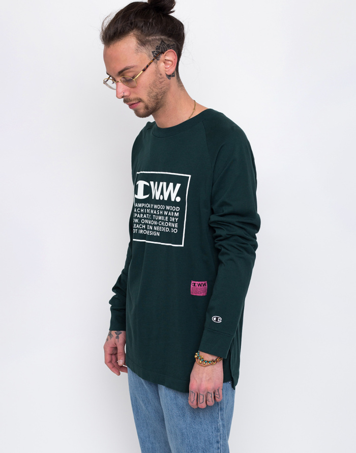 Triko - Champion - Wood Wood Long Sleeve Crewneck T-Shirt