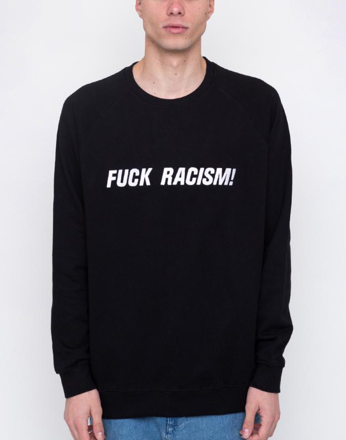 Mikina - Dedicated  - Malmoe Fuck Racism Embroidery