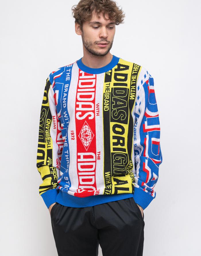 Svetr - adidas Originals - Scarf Knit Crew