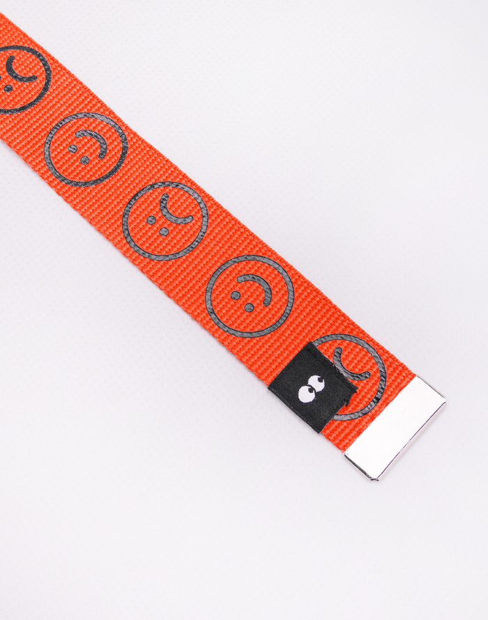 Pásek - Lazy Oaf - Orange Happy Sad Belt
