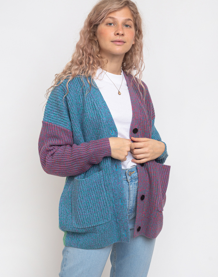 Cardigan - Lazy Oaf - Sick & Twisted Yarn Cardigan