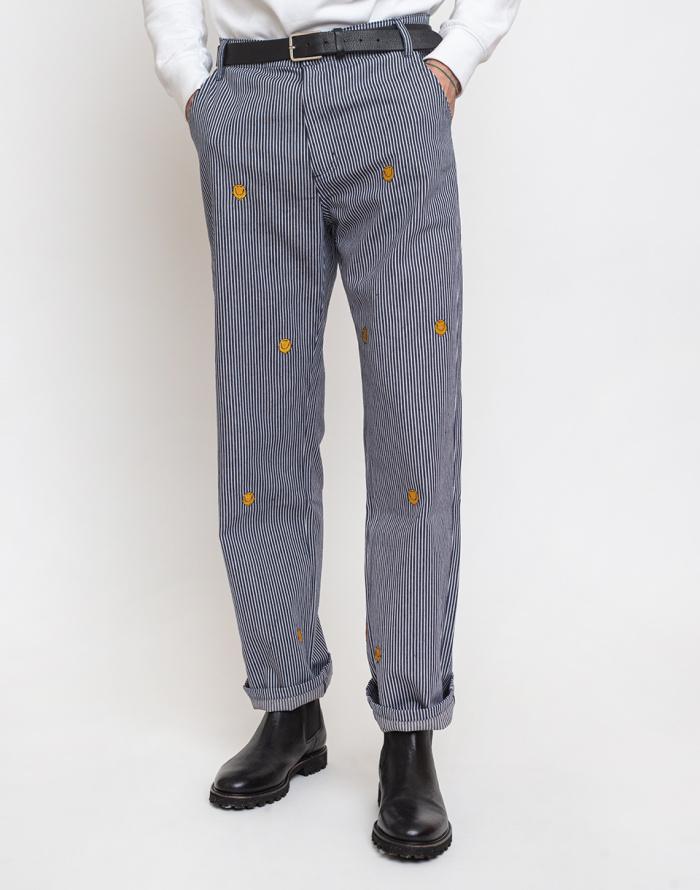 Kalhoty Lazy Oaf Mr Happy Pinstripe Pants
