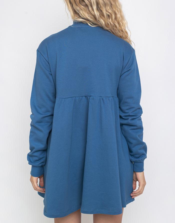 Šaty Lazy Oaf Blue Sally Sweater Dress