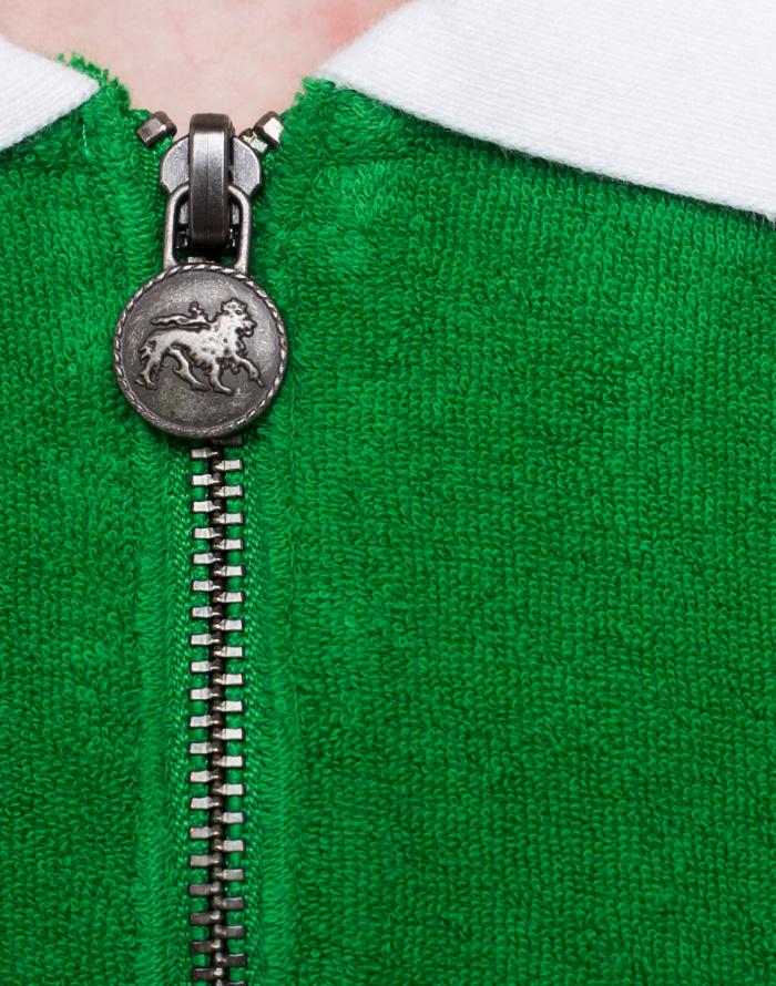 Polo triko Stüssy Terry Lion Zip Polo