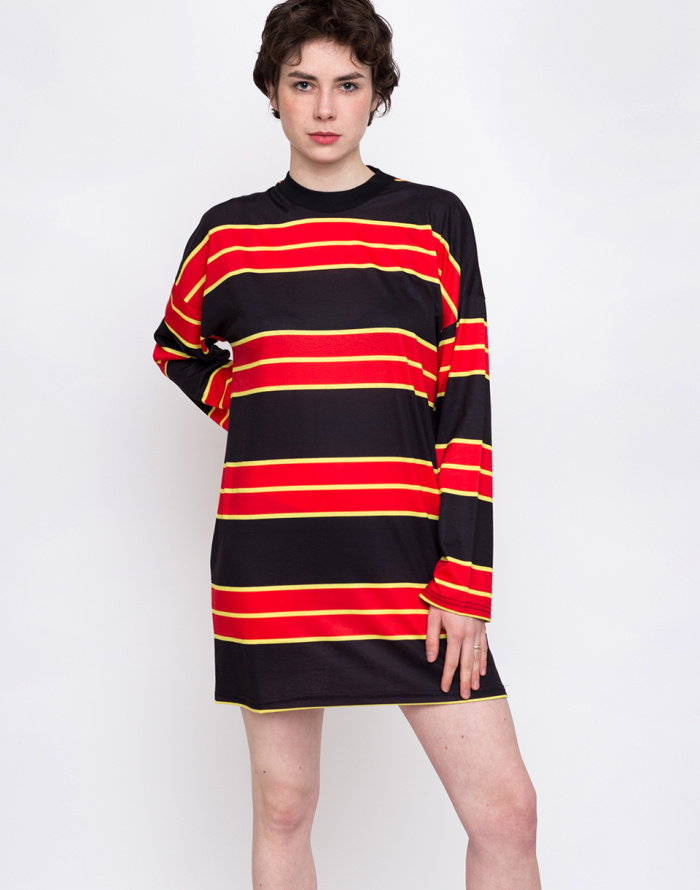 Šaty - The Ragged Priest - Large Striped Skater Dress
