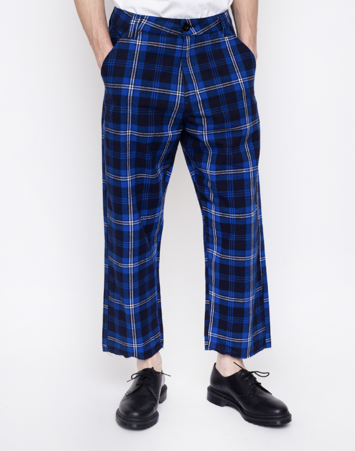 Chinos Lazy Oaf Torn Tartan Trousers