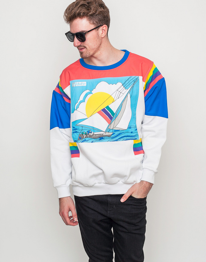 adidas Originals Apparel Adi Sailing Crew Sweater White